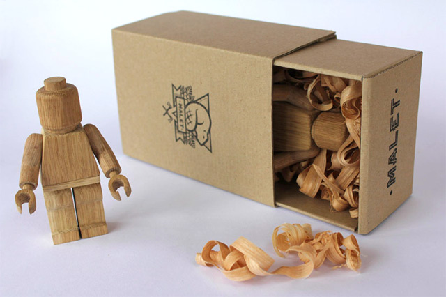 Limited Edition Wood Carved Lego Guys by Malet Thibaut wood toys Lego