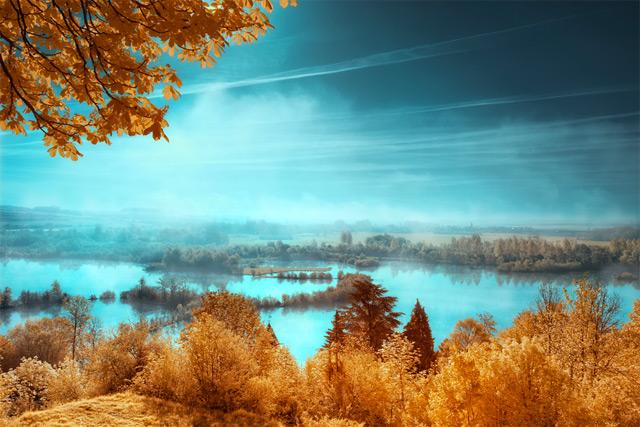 A fotografia, Surreal infravermelha de David Keochkerian paisagens infravermelho