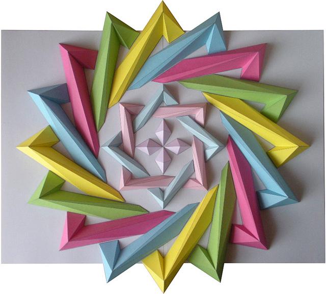 Origami Mosaics by Kota Hiratsuka paper origami mosaics