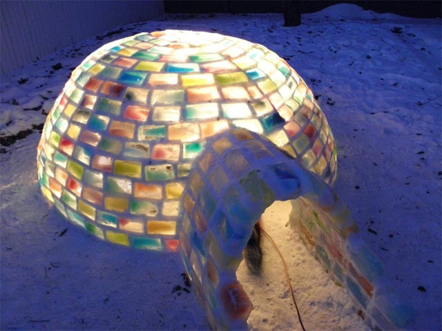 How to Build a Rainbow Igloo winter snow rainbows igloos ice architecture