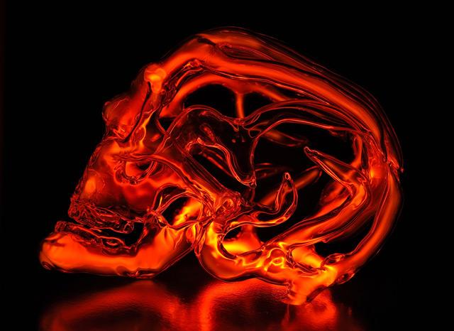 New Neon Skull Lights by Eric Franklin neon light glass anatomy