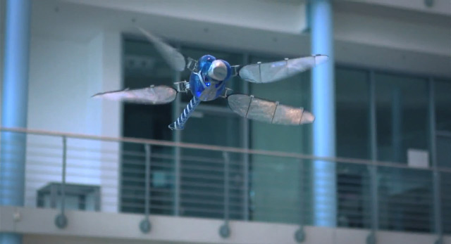 The BioniCopter: A Robotic Dragonfly by Festo robotics insects flight