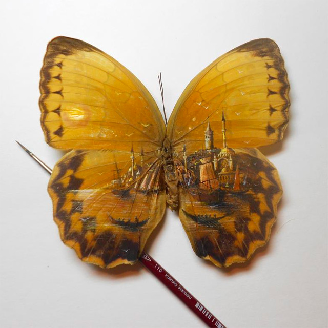 Extraordinarily Tiny Paintings of Istanbul by Hasan Kale painting miniature Istanbul insects