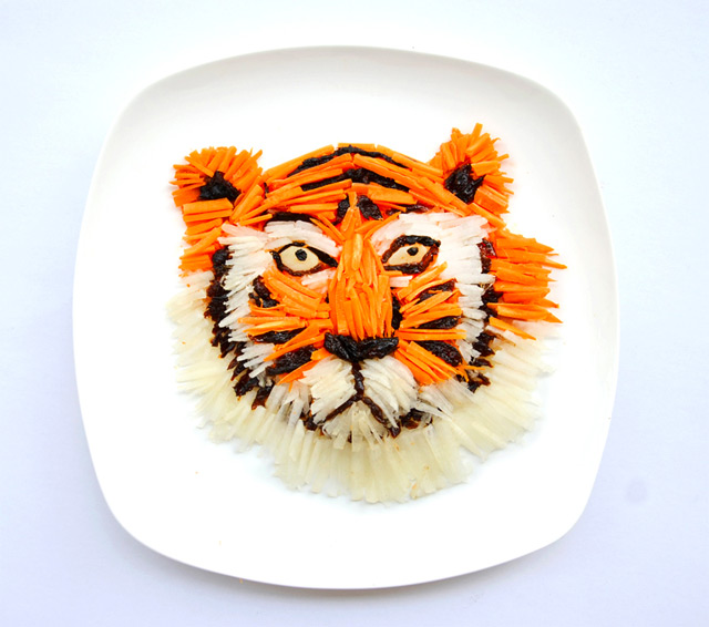 Artist Hong Yi Plays with her Food for 30 Days food