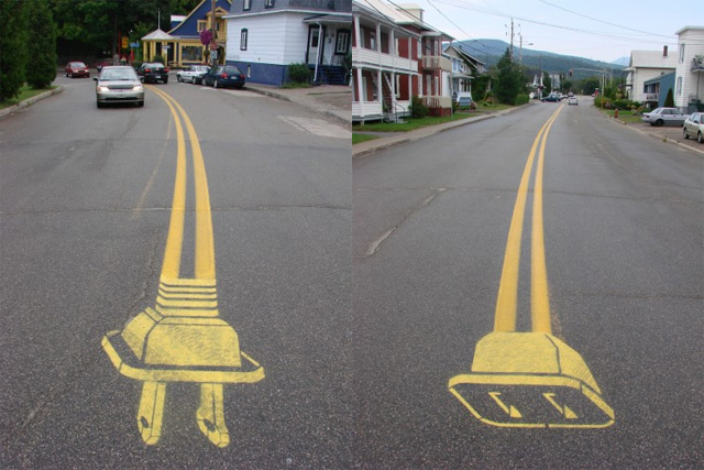 Street Artist Roadsworth Transforms the Streets of Montreal into a Visual Playground street art Montréal