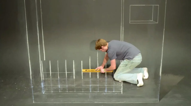 Stop Motion Chalk Tetris by Chris Carlson video games stop motion chalk animation
