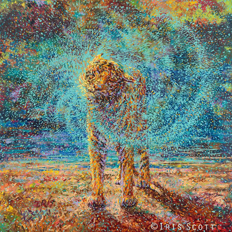 Oil Finger Paintings by Iris Scott painting