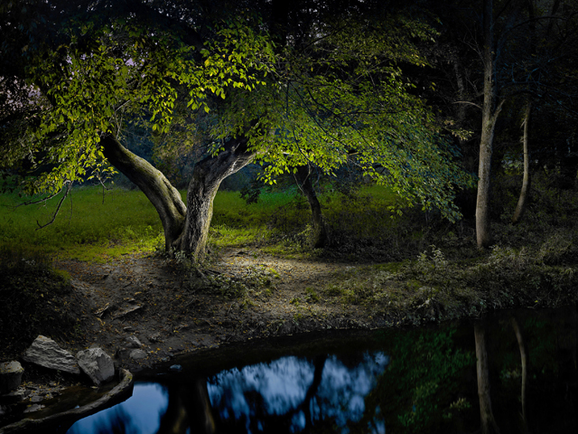 Night: Surreal Landscapes Lit with an LED Flashlight by Harold Ross night light painting landscapes