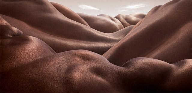 Landscapes Formed From Human Bodies by Carl Warner skin landscapes body