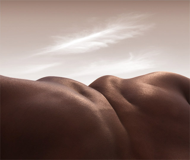 Landscapes Formed From Human Bodies by Carl Warner skin landscapes body