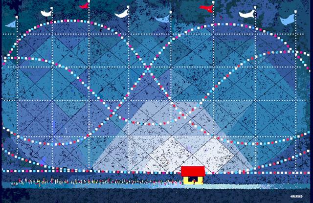 Microsoft Painting by Hal Lasko