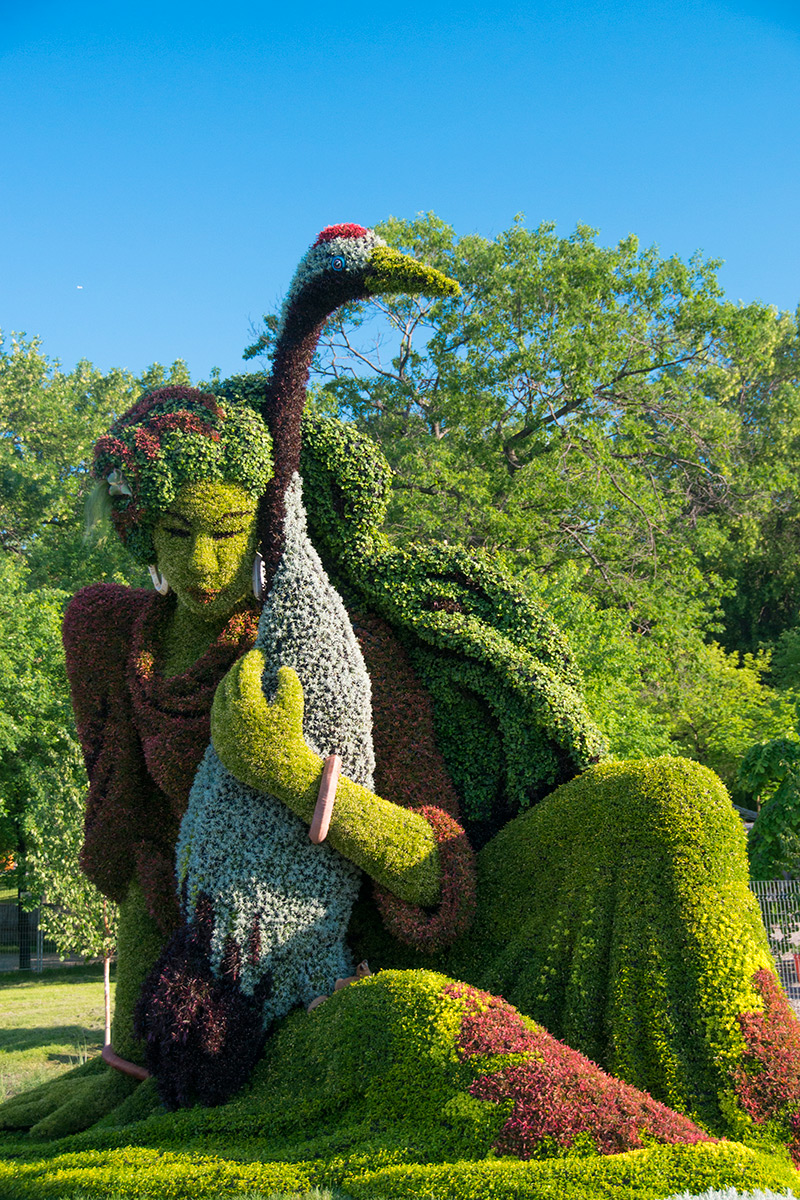 Monumental Plant Sculptures at the 2013 Mosaicultures Internationales de Montréal plants gardening