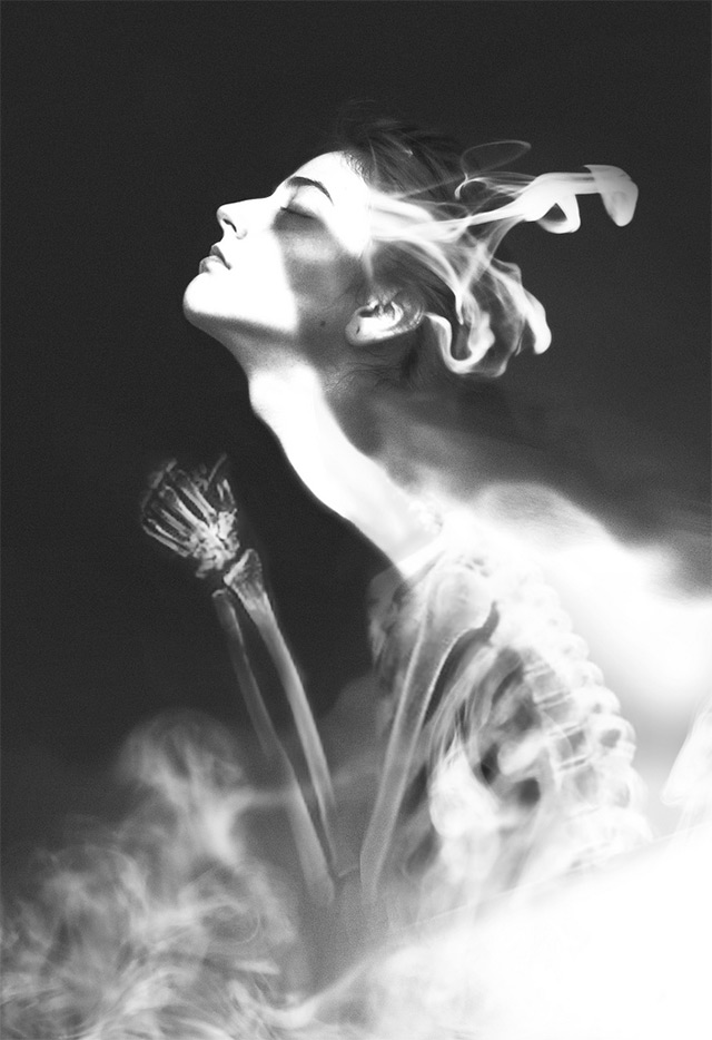 Dreamy Black and White Photo Manipulations by Silvia Grav conceptual black and white