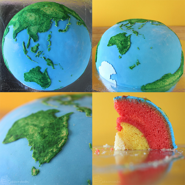 Planetary Structural Layer Cakes Designed by Cakecrumbs planets Jupiter food Earth cooking cake