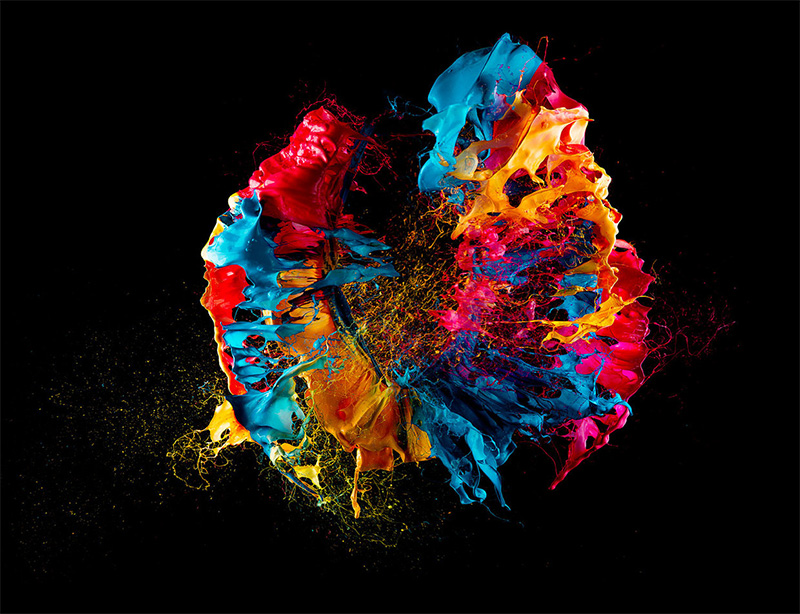 Liquid Jewels: High Speed Photos of Paint on Popped Balloons by Fabian Oefner  paint high speed color