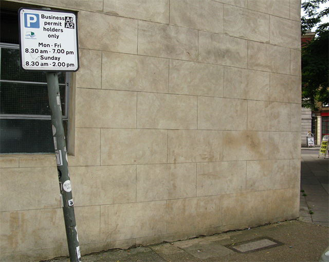 Perfectly Placed Stencil by ABOVE is Only Viewable at Night street art stencils London