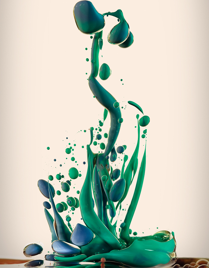 High Speed Photographs of Ink Mixing with Oil by Alberto Seveso water oil ink high speed