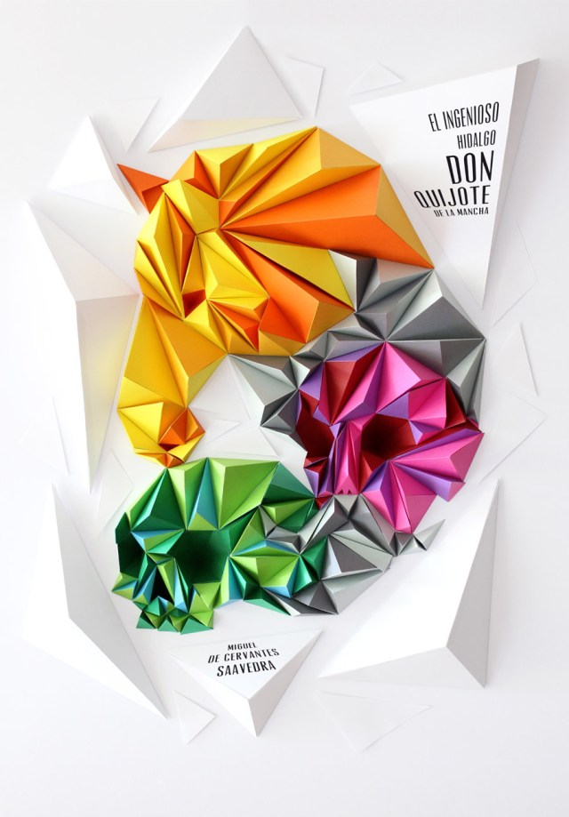 Drawing with Paper: Amazing Papercraft from Lobulo Design pop culture paper illustration design