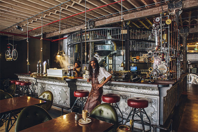 Step Inside Truth a Steampunk Coffee Shop in Cape Town South Africa  Colossal
