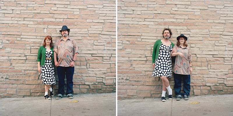 Switcheroo: Quirky Portraits of Couples Swapping Clothes by Hana Pesut portraits humor