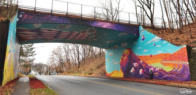 Overpass Illusion and Other Murals by Dasic street art murals bridges