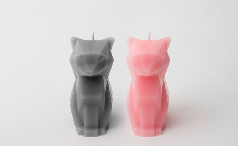 PyroPet Candles Melt into Creepy Metallic Skeletons pets cats candles