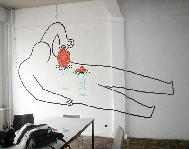 The Bizarre Street Art of Daan Botlek street art illustration