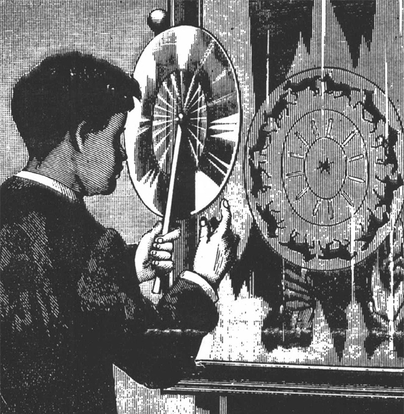 155 años antes de la Primera Gif Animado, Joseph Plateau Conjunto de imágenes en movimiento con la historia Phenakistoscope gifs animación