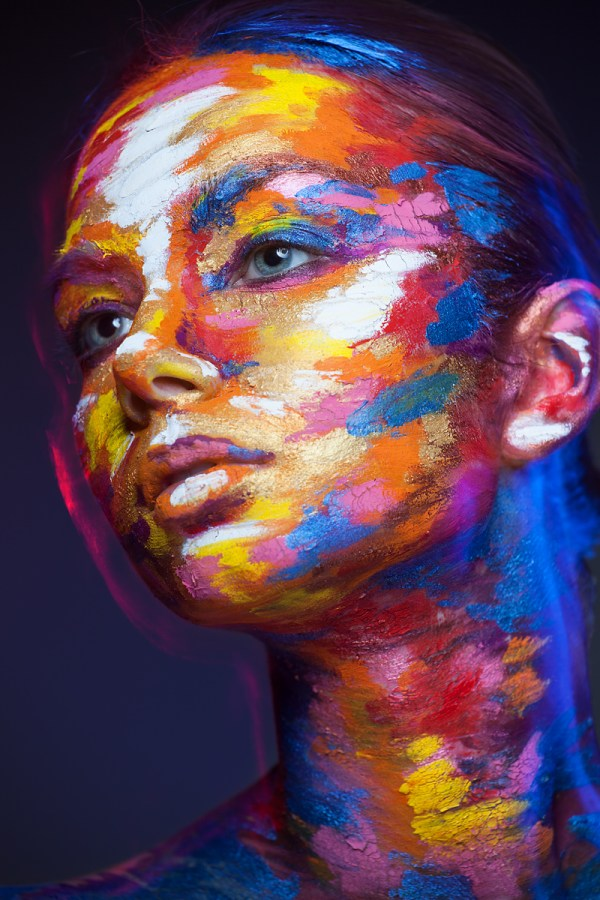 Faces Of Models Transformed 2d With Face Paint