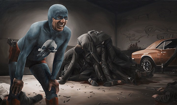 The Life And Times Of An Aging Superhero Captured In Oil Paintings By Andreas Englund Colossal