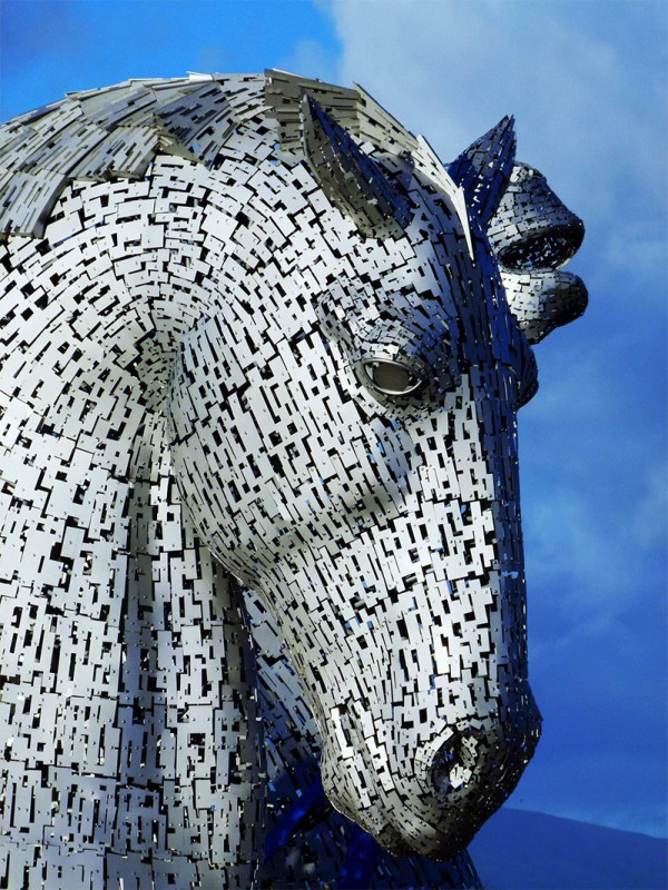Giant Kelpies Horse Head Sculptures Tower Over & Clyde Canal In Scotland Colossal