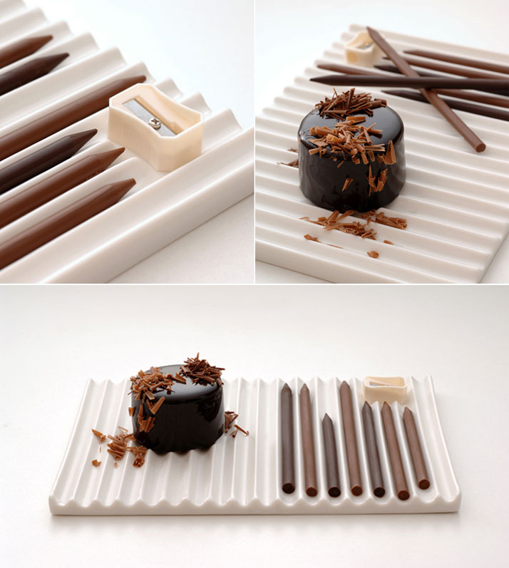 Edible Chocolate Art Supplies by Nendo food chocolate