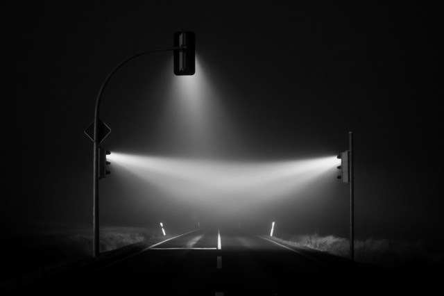 Misty Traffic Lights in Germany Photographed by Lucas Zimmermann Germany