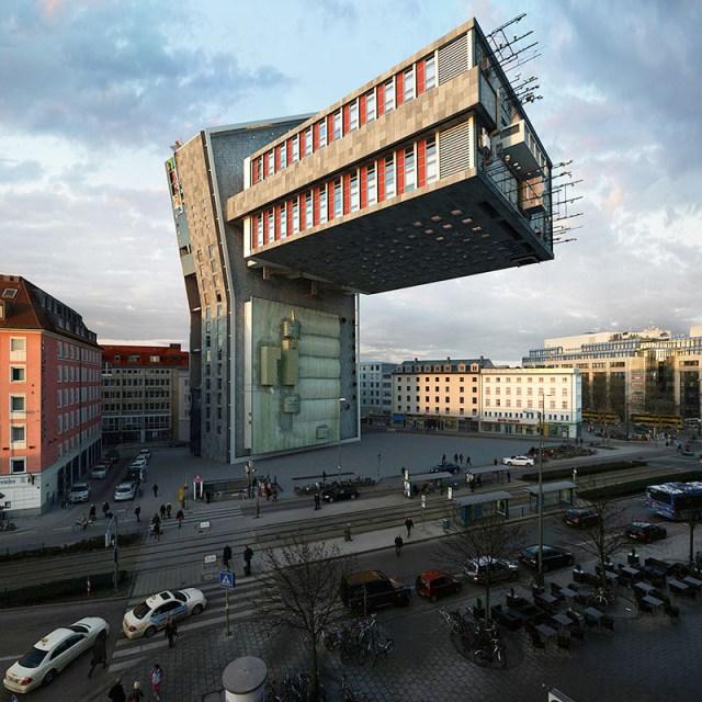 Photographer Víctor Enrich Imagines the Same Building in Munich Configured in 88 Ways digital architecture