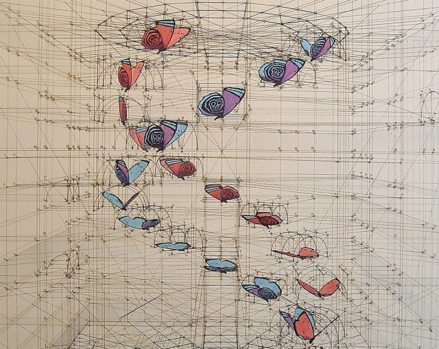 Architectural Renderings of Life Drawn with Pencil and Pen by Rafael Araujo drawing butterflies architecture 3d
