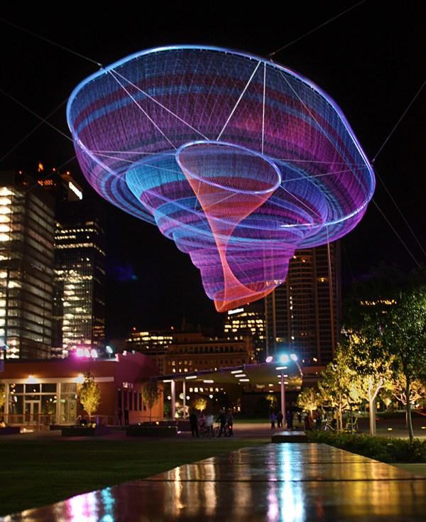 Giant Suspended Net Installations Janet Echelman Colossal