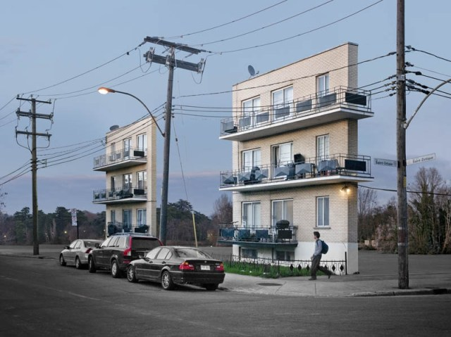 Isolated Building Facades by Zacharie Gaudrillot Roy conceptual architecture