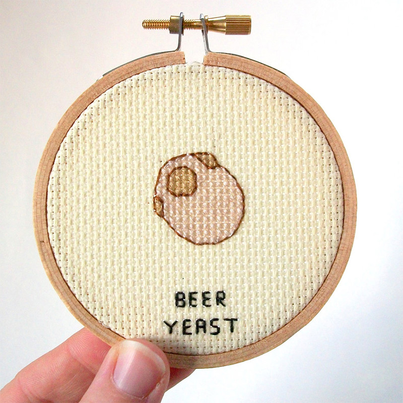 Cross Stitched Germs and Microbes microbes germs embroidery