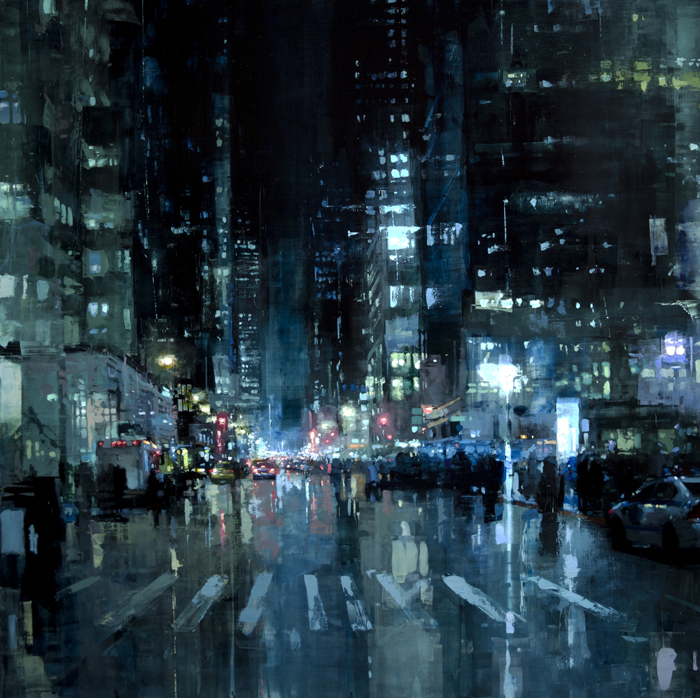 Gritty New Cityscapes by Jeremy Mann  Colossal