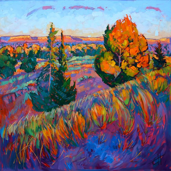 Oil Landscapes Transformed Mosaics Of Color Erin