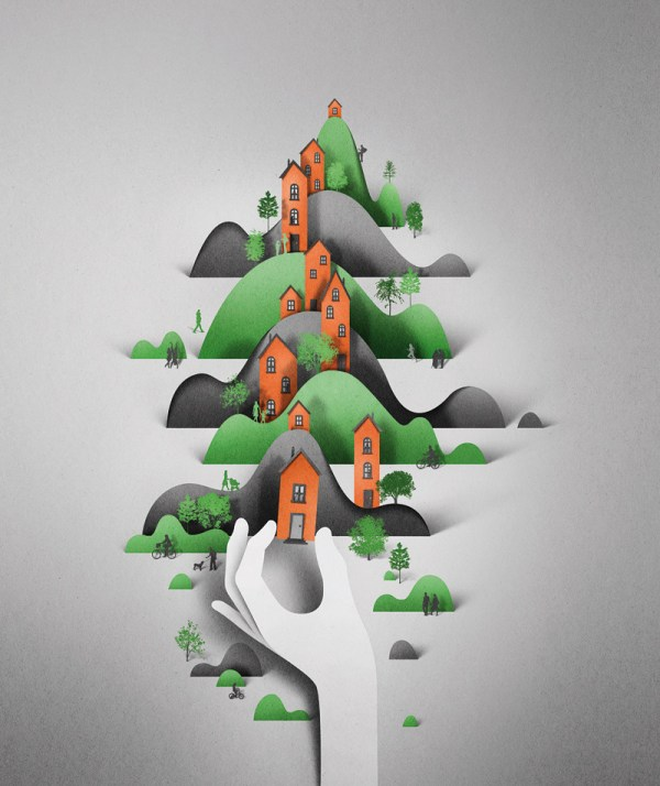 Digital Papercut Illustrations Eiko Ojala Colossal