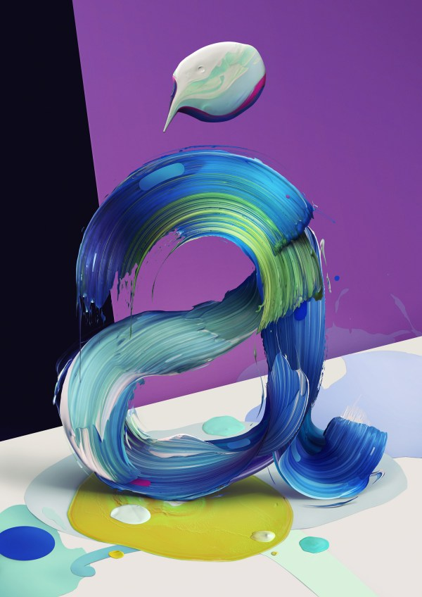 Painted Typography Pawel Nolbert Colossal