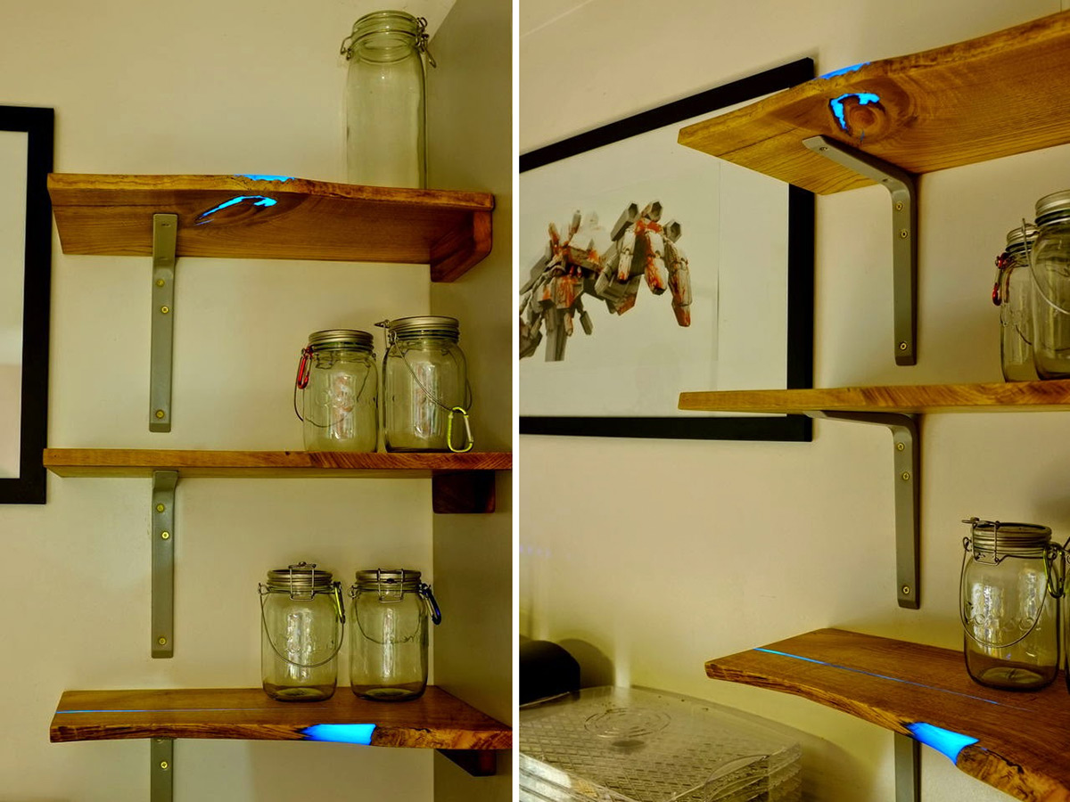 DIY Glowing Inlaid Resin Shelves by Mat Brown  Colossal