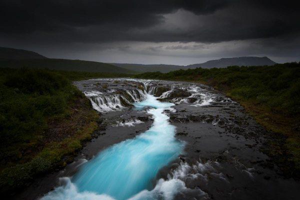 Turquoise Falls Iceland