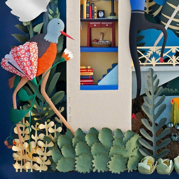 Cut Paper Sculptures And Illustrations Elsa Mora Colossal