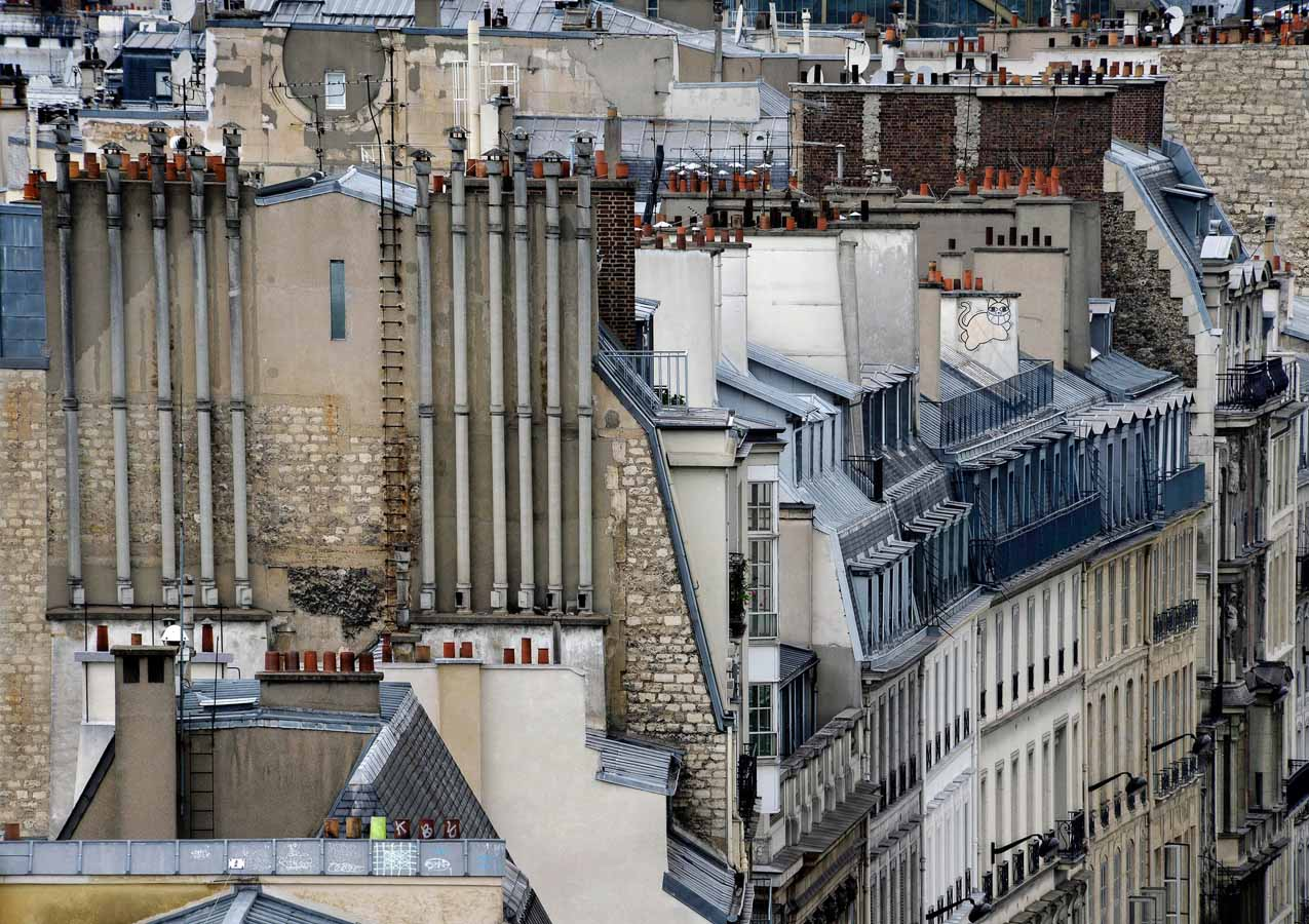 Abstract Parisian Rooftops Photographed by Michael Wolf Paris abstract