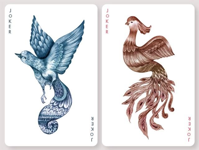 AVES: Playing Cards Inspired by Karina Eibatovas Bird Illustrations illustration games cards birds