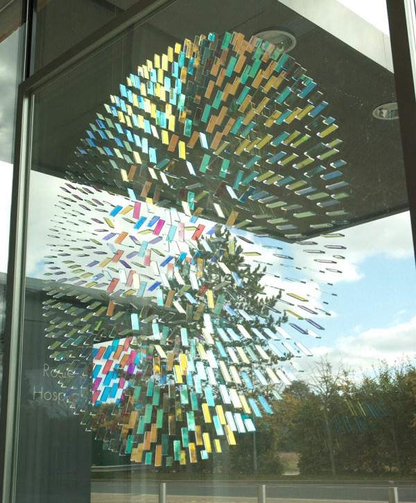Geometric Dichroic Glass Installations Chris Wood