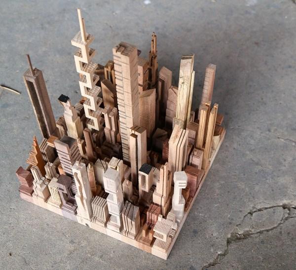 Abstract Wood Sculpture Art