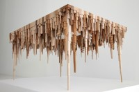New Wooden Cityscapes Sculpted with a Bandsaw by James